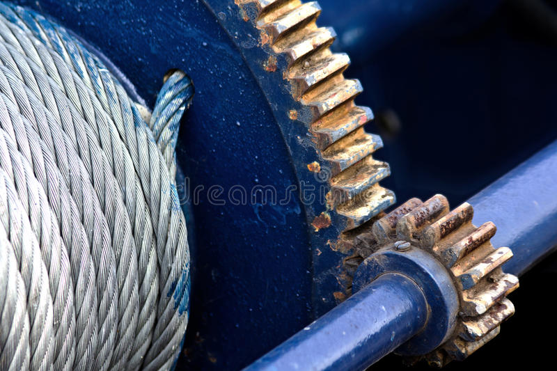 Download Old winch stock image. Image of hoist, weathered, metal - 28628241