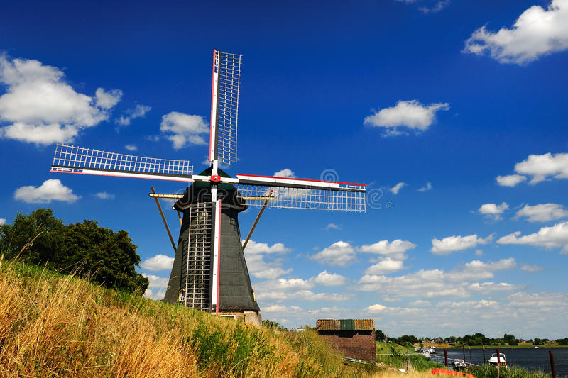 Old Wind Mill. In Holland during summer time royalty free stock images