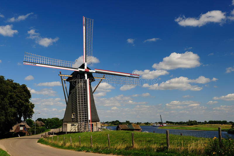 Old Wind Mill. In Holland during summer time royalty free stock image