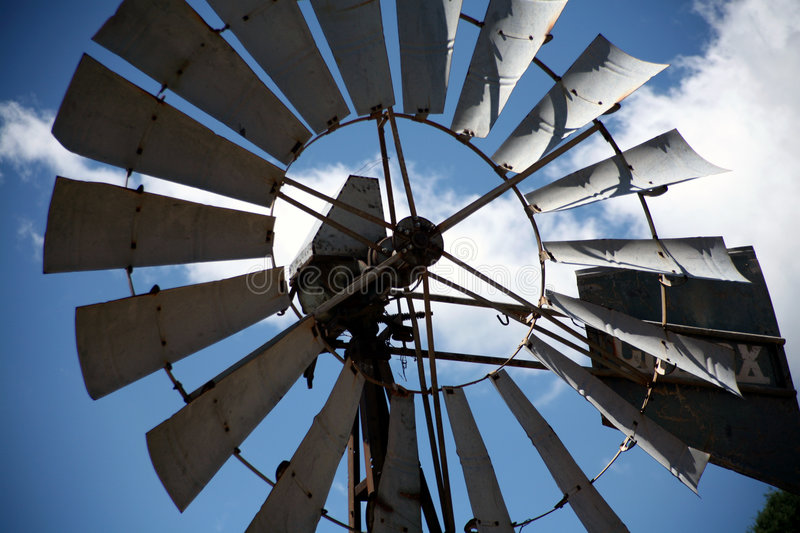 Old Wind Pump royalty free stock photos