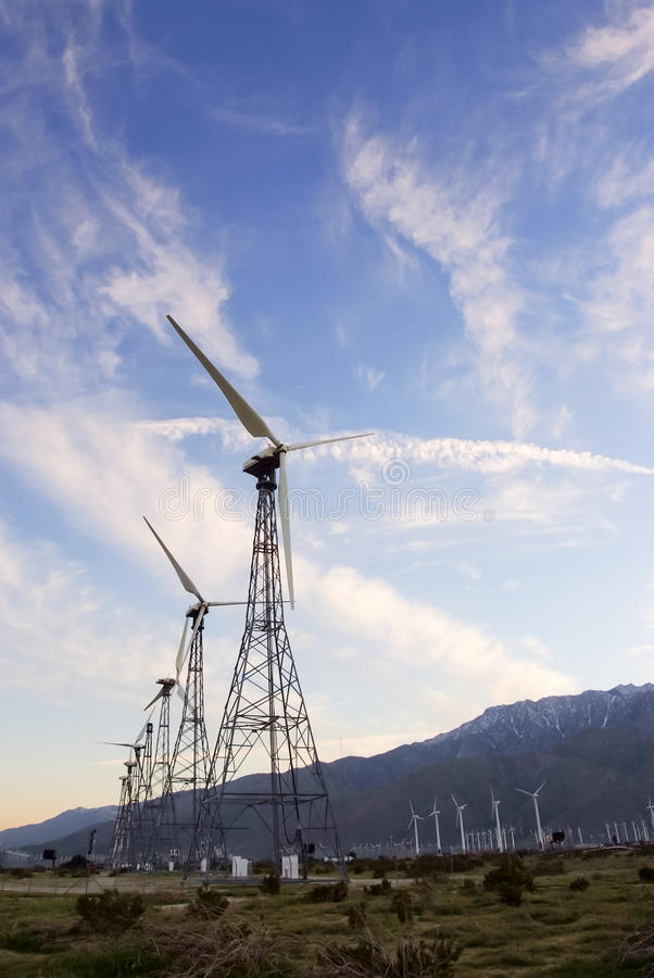 Download Old Wind Turbines stock photo. Image of wind, alternative - 28953174