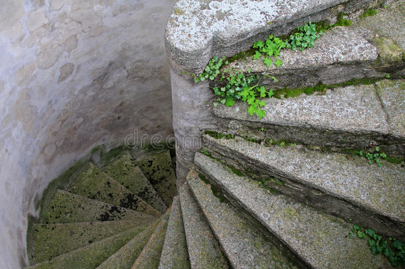 Old and Winding Concrete Stairs stock photos