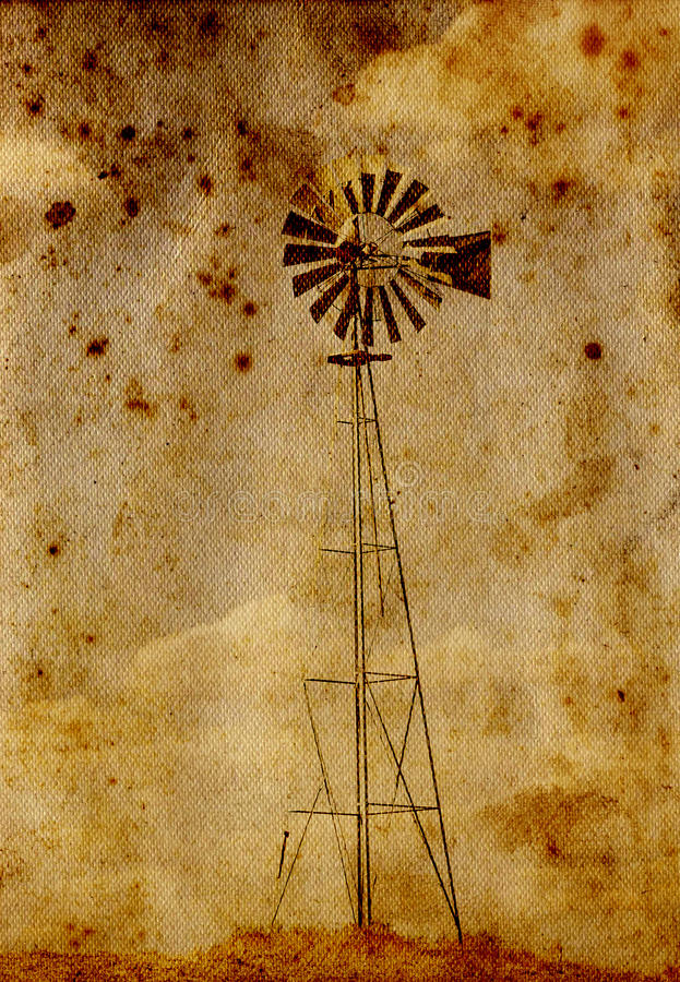 Old windmill. On the wheat field in Wasthington stock photos