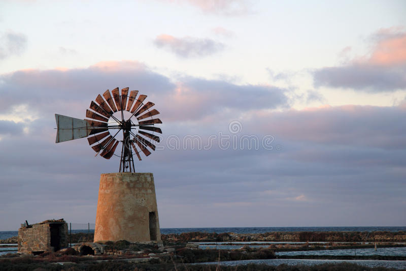 Download Old windmill stock image. Image of propeller, mediterranean - 18217539