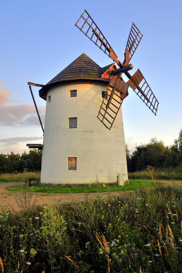 Download Old windmill stock image. Image of power, grass, republic - 26114845