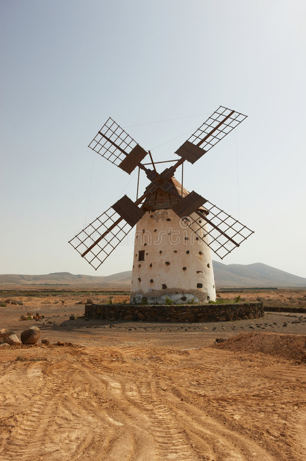 Download Old Windmill stock image. Image of environment, fuertaventura - 4988439