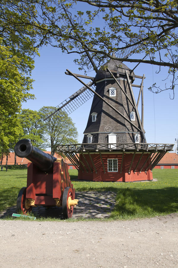 Download Old Windmill in Copenhagen stock photo. Image of tourist - 23794768