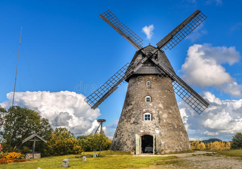 Old windmill, Europe royalty free stock images