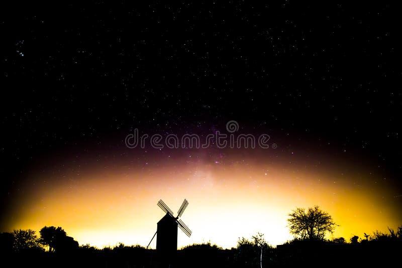 Old windmill in Guadalajara stock image