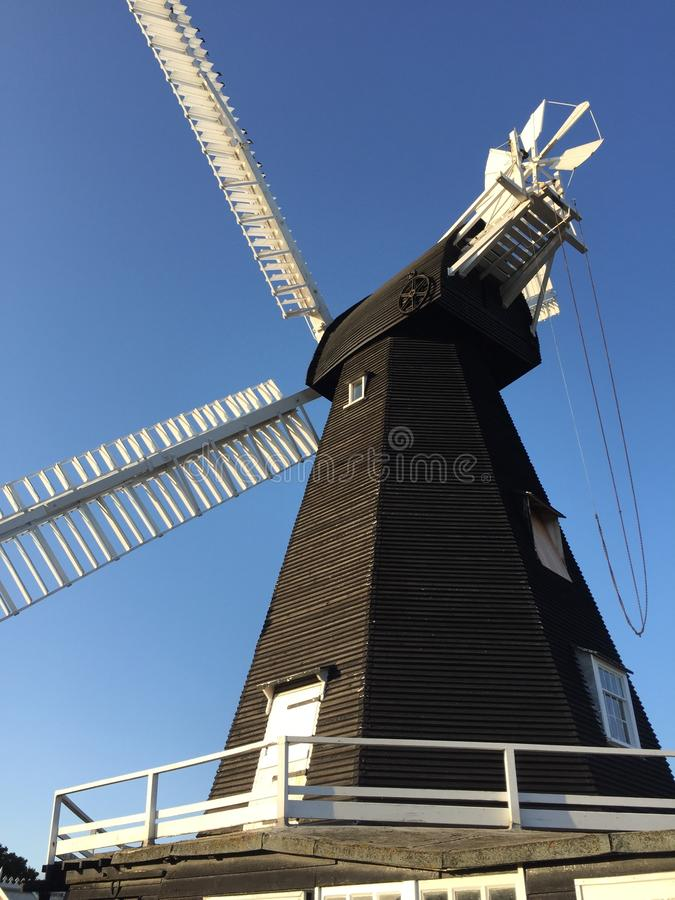 Free Old Windmill In Kent - Black With White Sails Royalty Free Stock Photo - 158187815