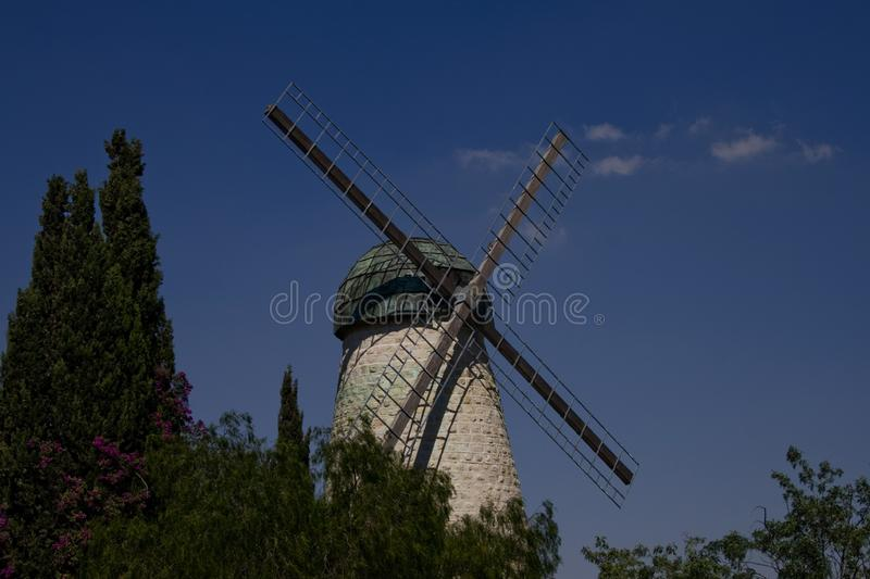 The Old Windmill of Jerusalem royalty free stock image