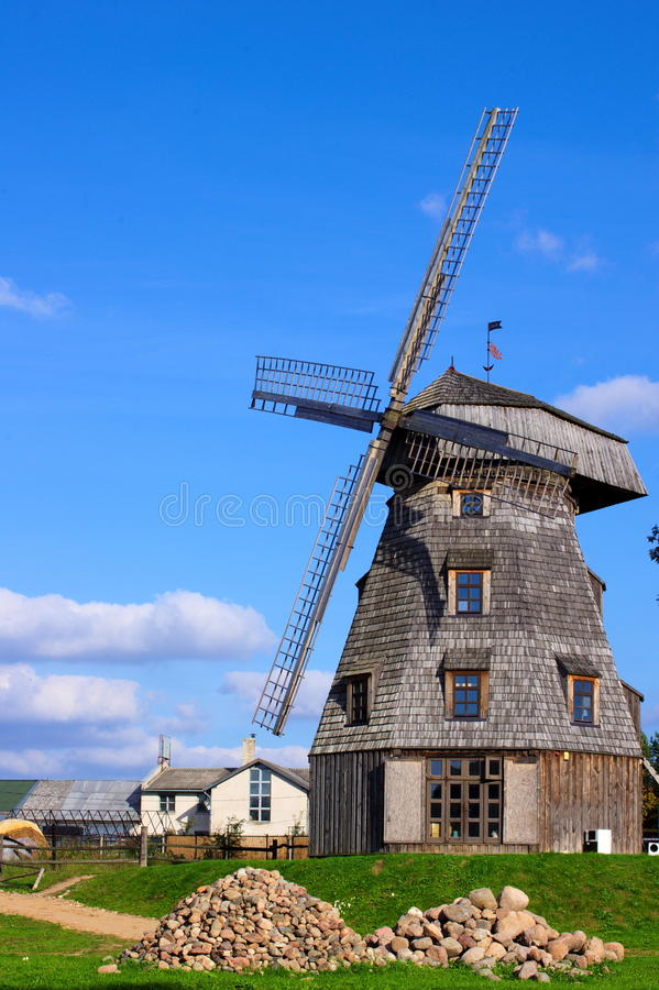 Free Old Windmill Landscape Royalty Free Stock Photos - 21296508