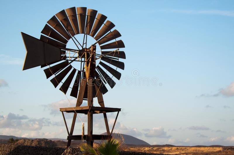 Download Old Windmill on Lanzarote stock photo. Image of landscape - 21730630