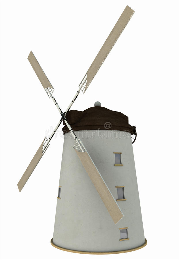 Old Windmill With Sails Stock Image