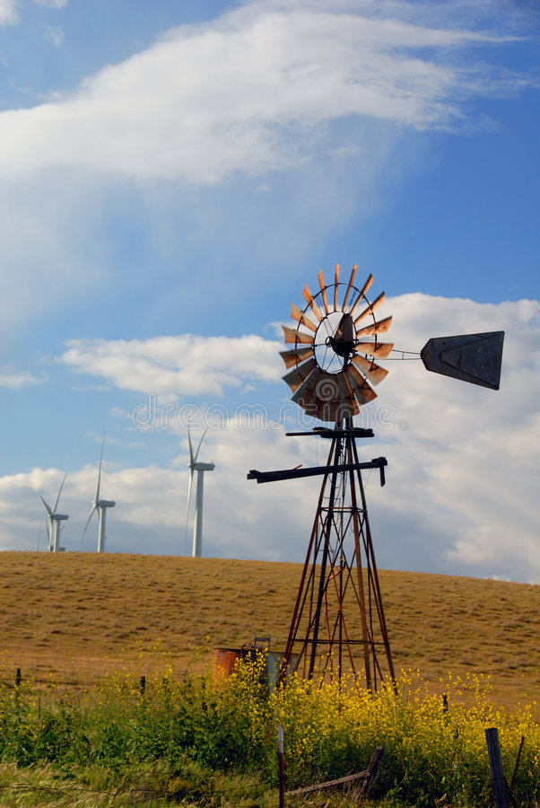Download Old Windmills For New Stock Photography - Image: 2324312
