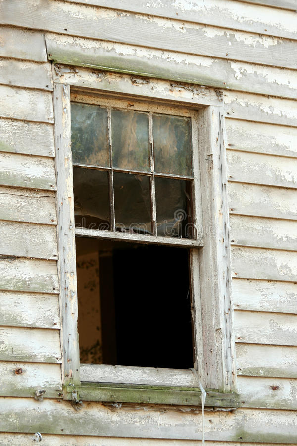 Old window. A old window on condemned house royalty free stock images