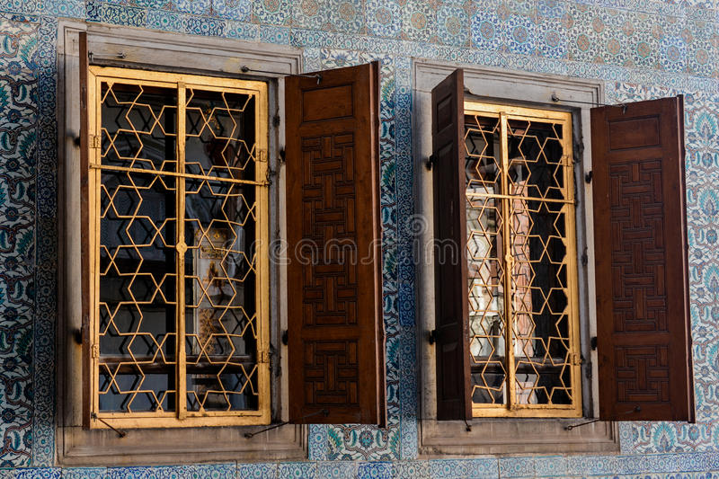 Old window Architecture from the Ottoman times. In Istanbul stock photos
