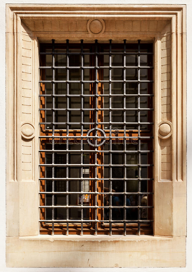 Download Old window with bars stock photo. Image of weathered - 32092946