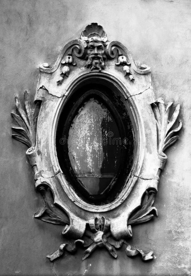 Burgois decorated old window royalty free stock photo