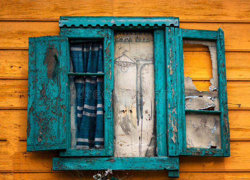 Old Window in Caminito Argentina royalty free stock photos