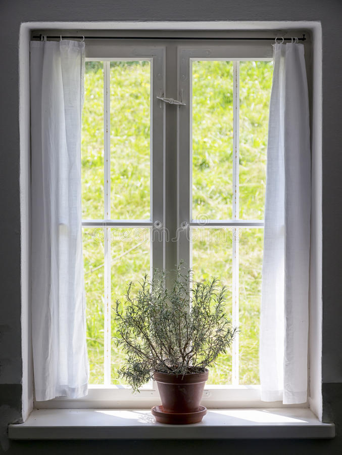 Download Old window stock photo. Image of object, curtain, closed - 35290308