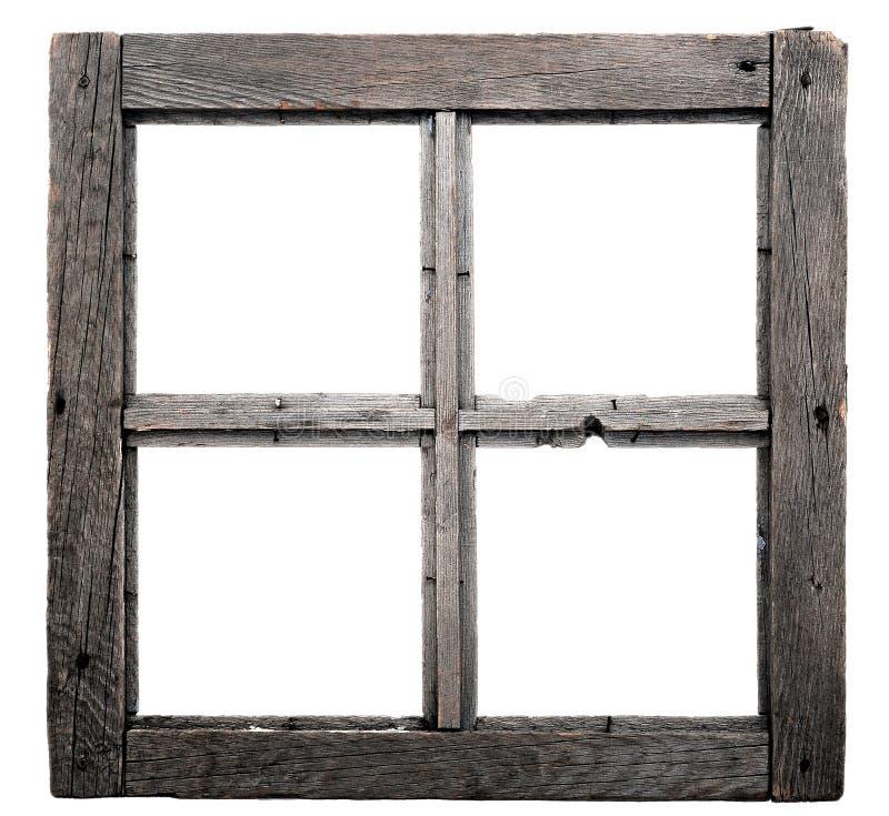 Old window frame. Isolated on white background stock image