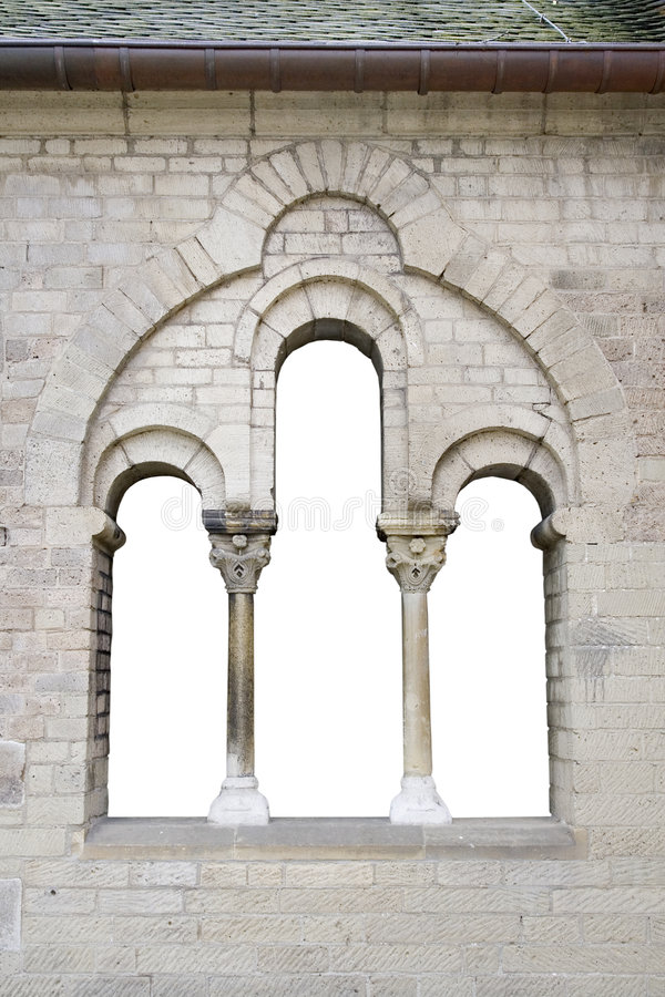 Old window in gernman church stock photography