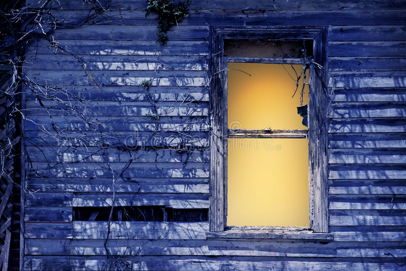 Download Old window by moonlight stock image. Image of abandoned - 472311
