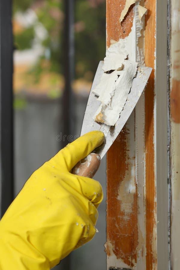 Old Window Restoration Stock Photography