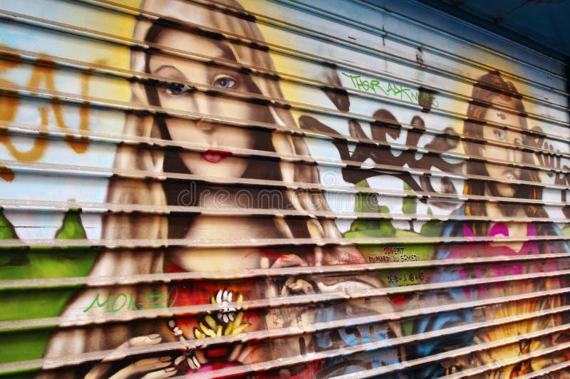 Download Old window shade stock photo. Image of jesus, paris, graffiti - 4423458