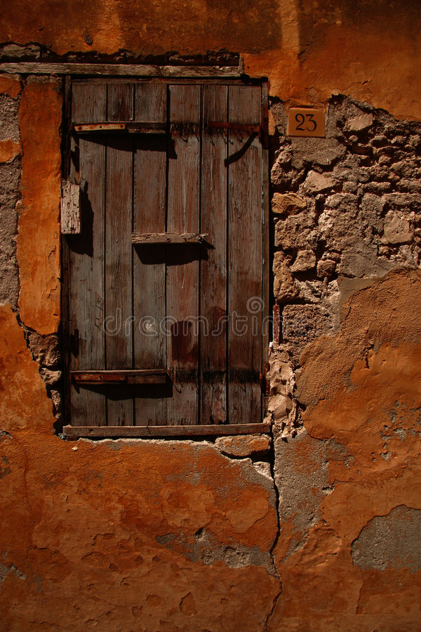 Old window shutter royalty free stock photography
