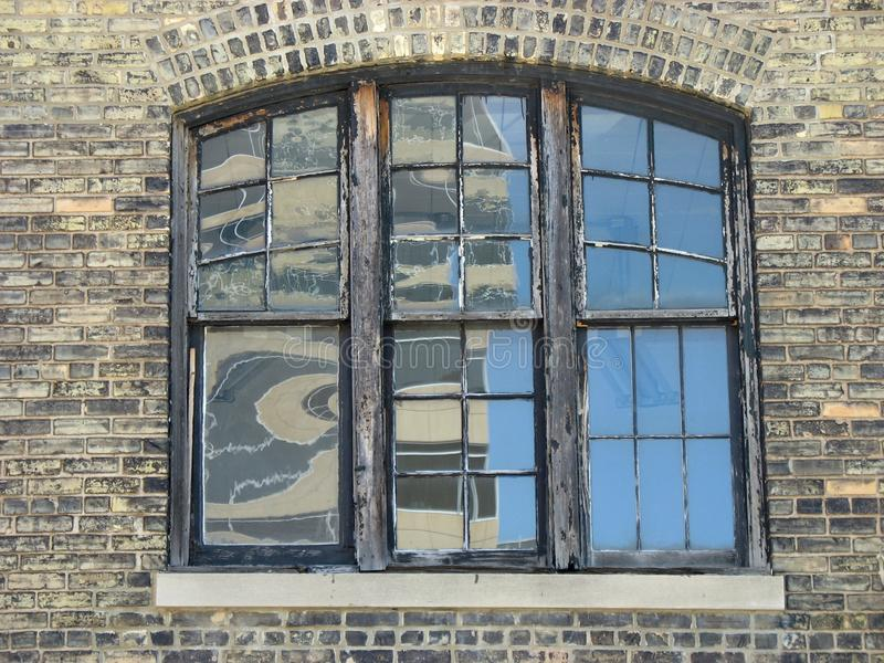 Old Window With Wooden Frames Stock Image - Image of wall, large ...
