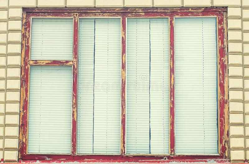Old windows with jalousie in the village royalty free stock photos