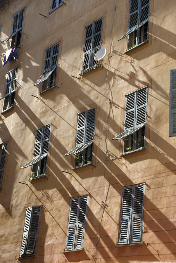 Download Old windows in Nice stock image. Image of cote, tourism - 9306005