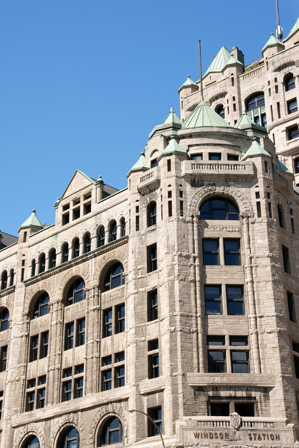 Old Windsor Station in Montreal royalty free stock photography