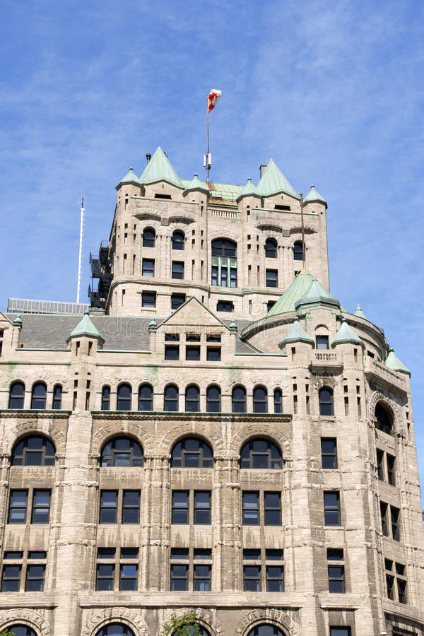 Old Windsor Station in Montreal stock photo
