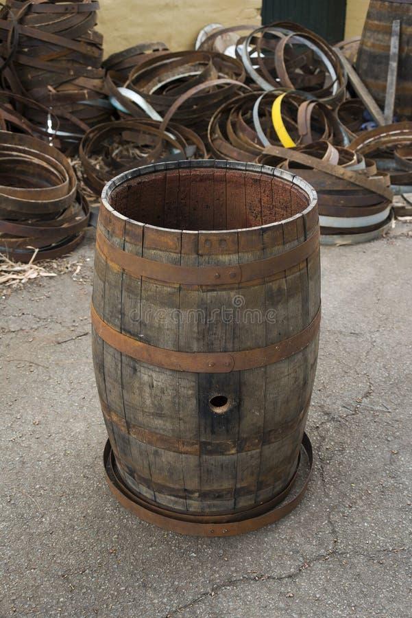 Old Wine Barrel stock photo