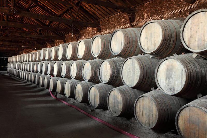 Old wine cellar royalty free stock photos