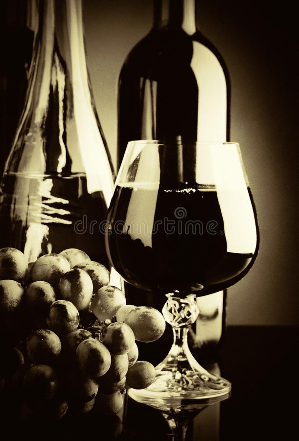 Old wine. Retro still life royalty free stock photos