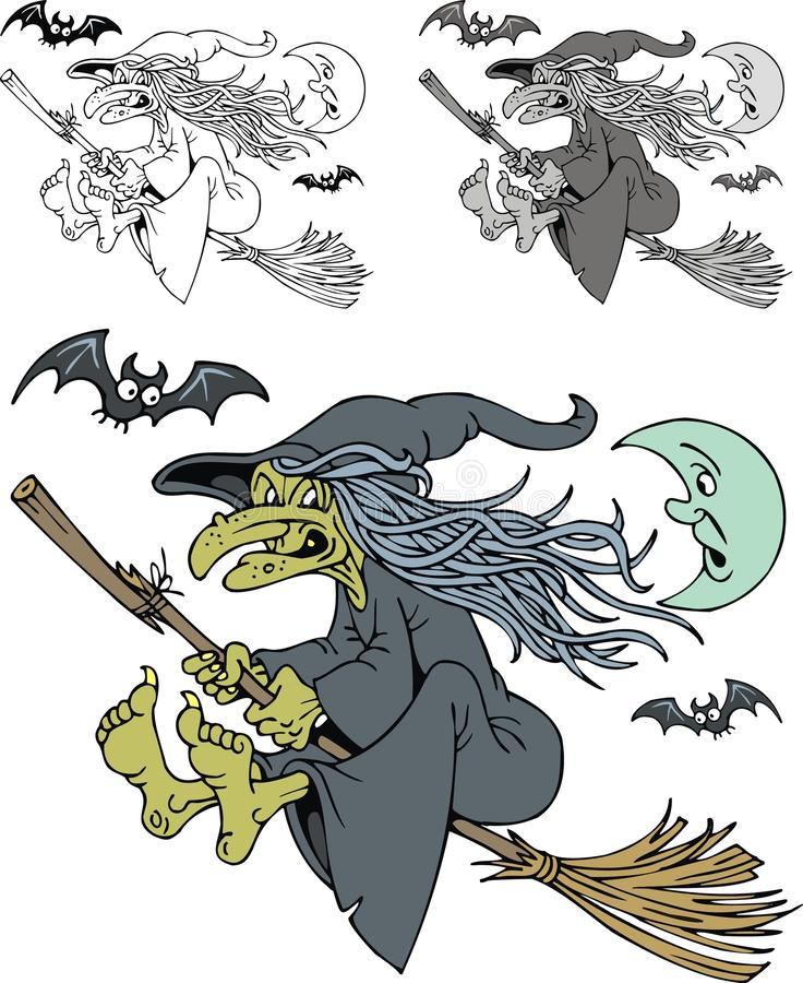 Old witch stock illustration