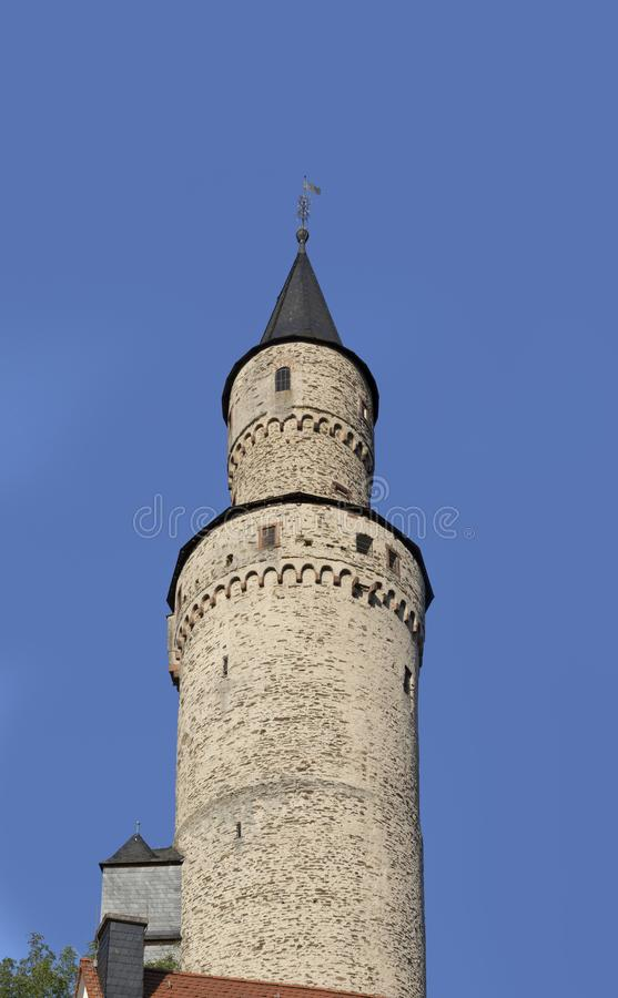 Old witch tower in Idstein. Germany from medieval times royalty free stock photography