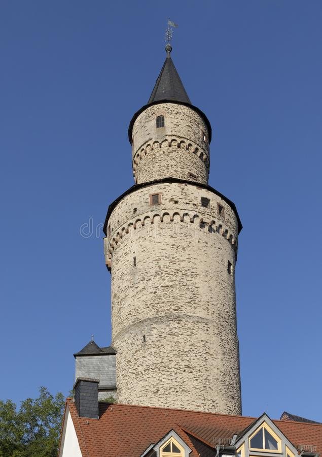 Old witch tower in Idstein. Germany from medieval times royalty free stock image