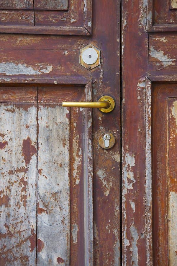 Old woden door. Detail of old woden door stock image