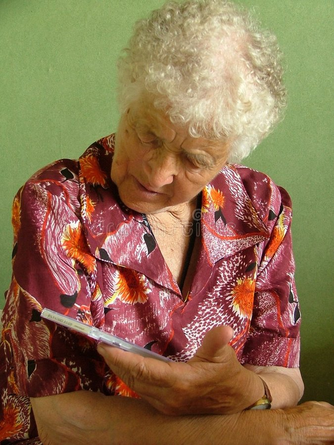 Download Old woman stock image. Image of citizen, caucasian, hair - 195569