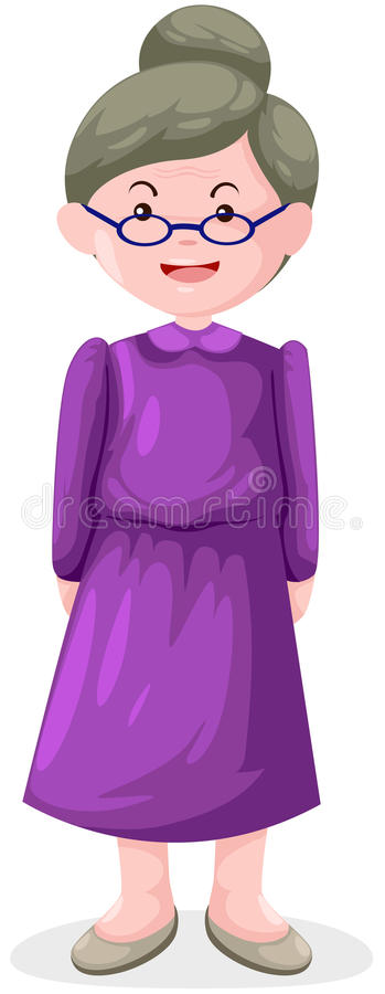 Old woman stock illustration