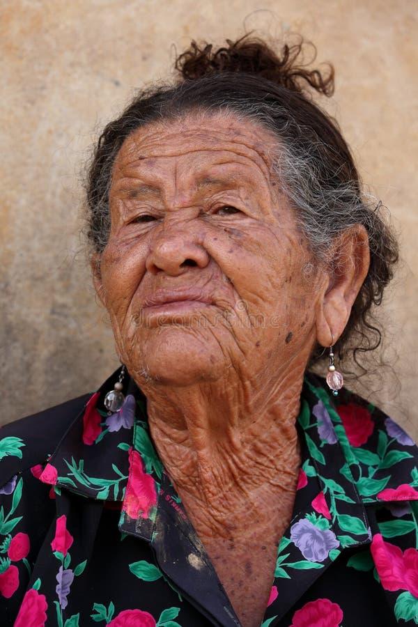Old woman from Brazil. An Old woman from Brazil royalty free stock photos