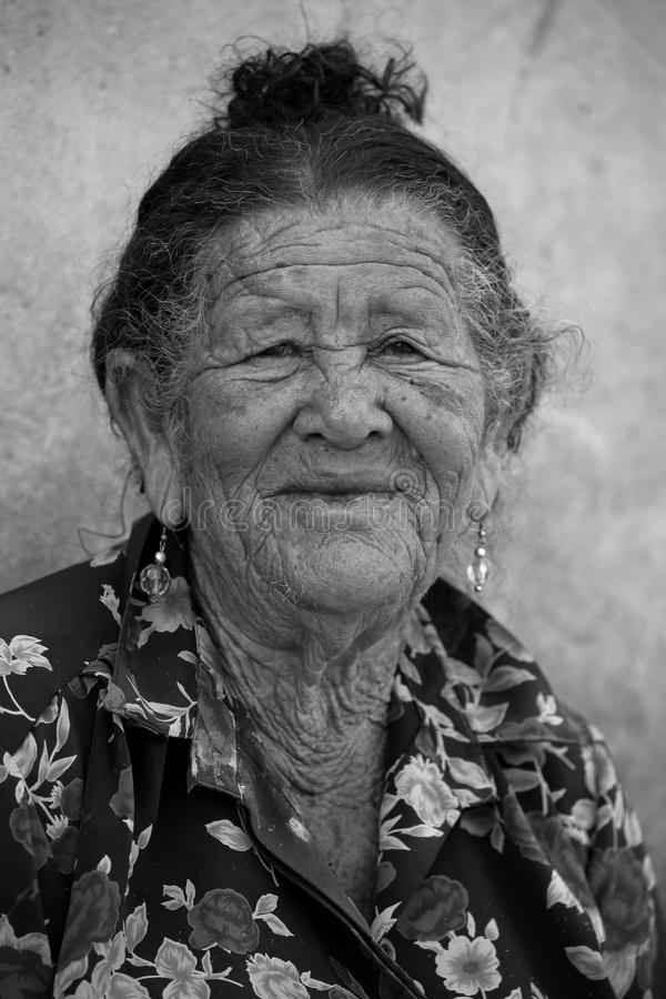 Old woman from Brazil. An Old woman from Brazil royalty free stock photography