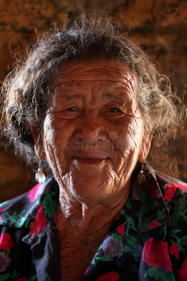 Old woman from Brazil. An Old woman from Brazil royalty free stock images