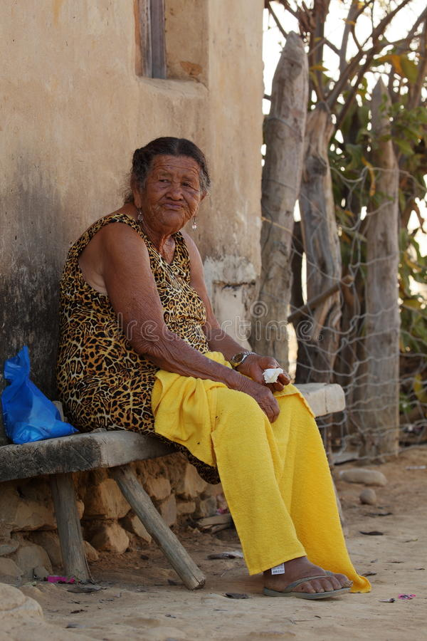 Old woman from Brazil. An Old woman from Brazil stock photography