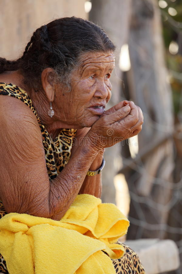 Old woman from Brazil. An Old woman from Brazil royalty free stock photos